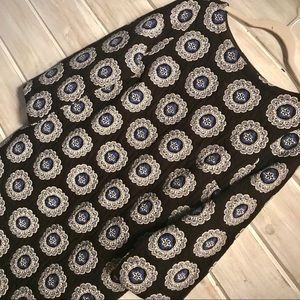 LOFT three-quarter sleeve medallion dress, size M